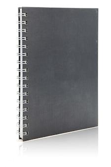Caderno de capa dura preta