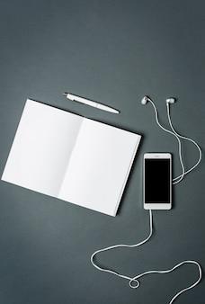 Caderno de negócios, telefone.