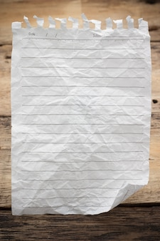 Caderno de página em papel