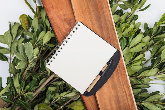 Caderno em placas e plantas