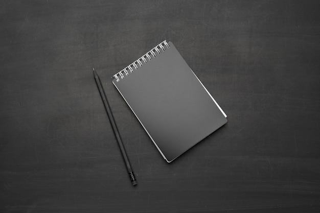 Caderno espiral de vista superior