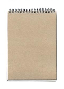 Caderno espiral vintage perto
