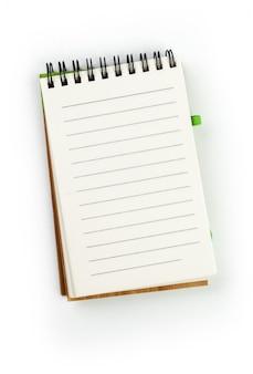 Caderno isolado no fundo branco