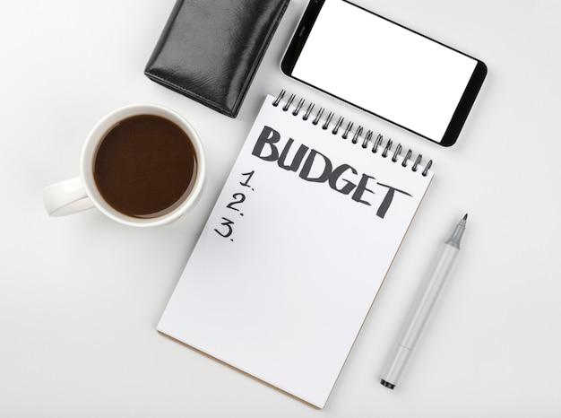 Caderno para cálculo de orçamento