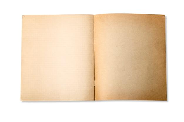 Caderno velho aberto
