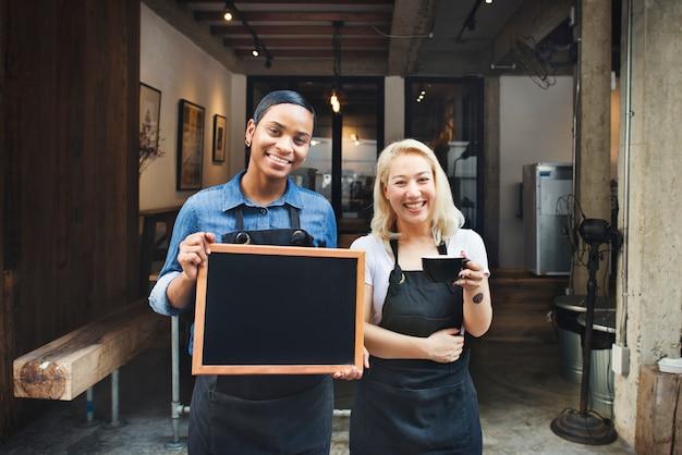 Café aberto para negócios