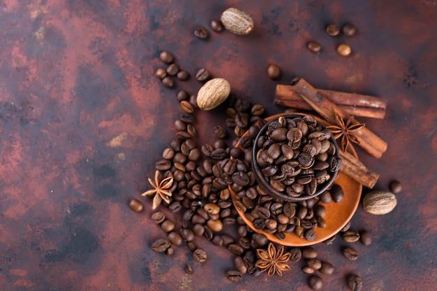 Café beens com especiarias