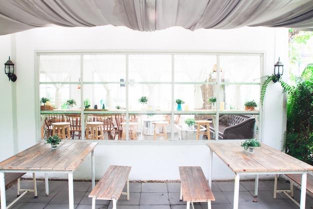 Café caseiro da padaria do estilo vintage e acolhedor.