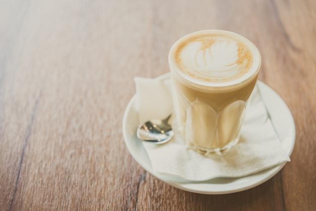 Café com leite quente