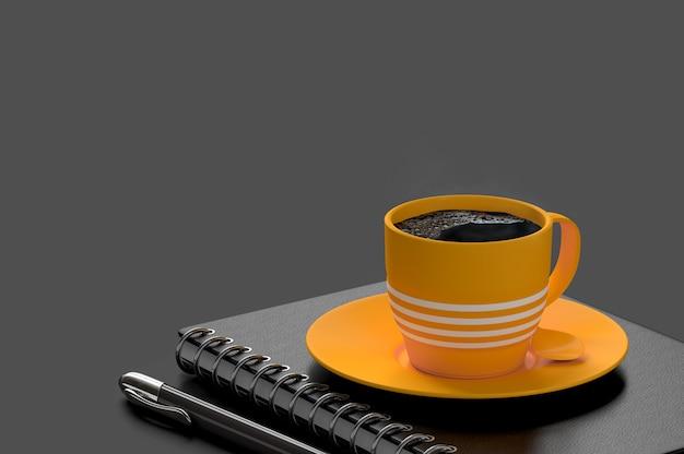 Café conceito mínimo de leite