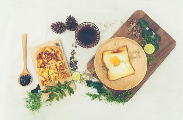 Café da manhã americano saudável