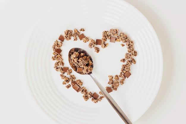 Café da manhã cereais muesli