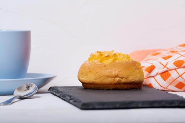Café da manhã com creme de coco