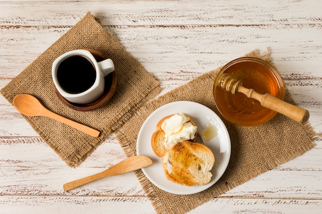 Café da manhã com mel