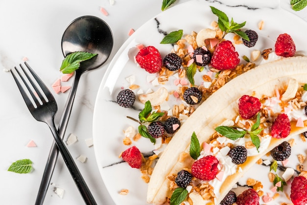 Café da manhã de frutas de verão