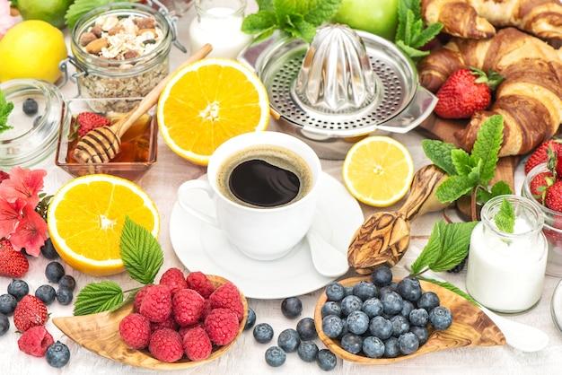 Café da manhã mesa nutrição saudável