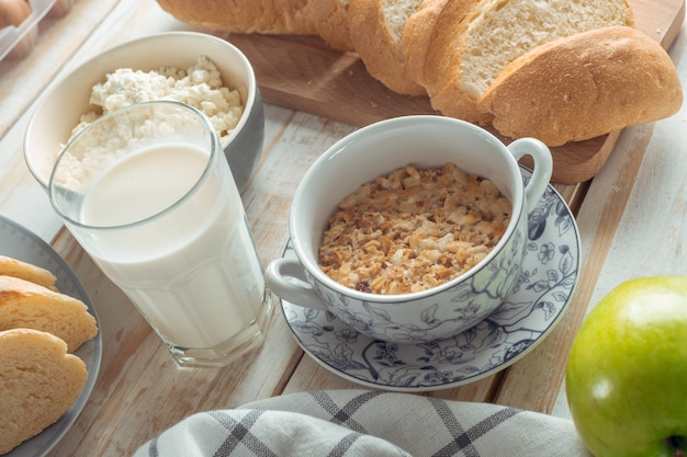 Café da manhã muesli