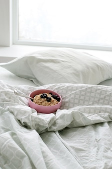 Café da manhã na cama de manhã