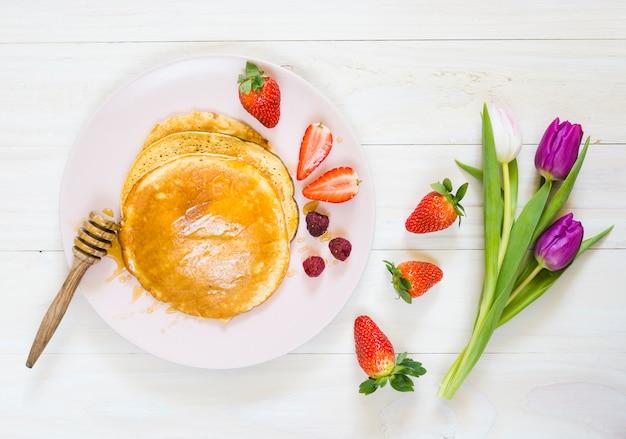 Café da manhã panquecas