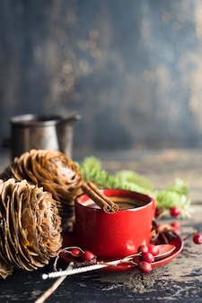 Café da manhã tradicional em estilo rústico