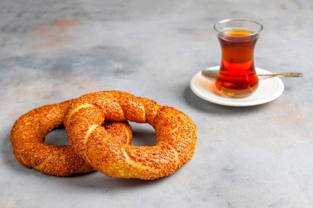Café da manhã turco tradicional.