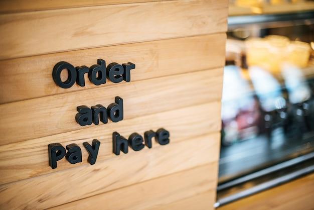 Café de loja de café de contador dianteiro