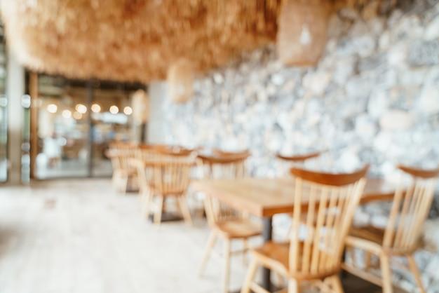 Café desfocado abstrato