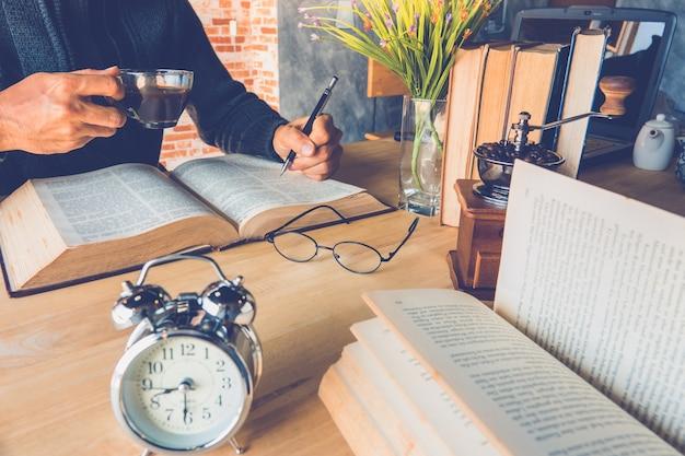 Café e livro