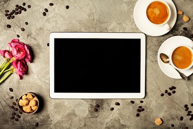 Café e tablet