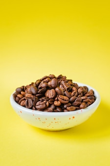Café em grão recém torrado arábica ou robusta blend lanche bebida futura