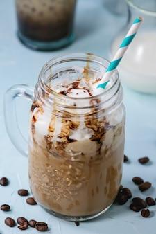 Café gelado com creme