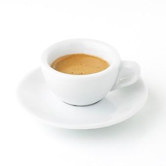 Café italiano isolado no branco