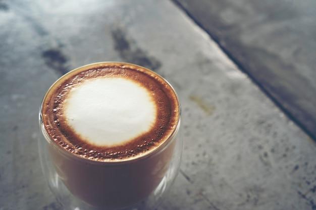 Café latte art, latte art em xícara de café