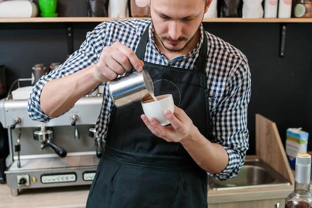 Café menu receita barista decoração cappuccino