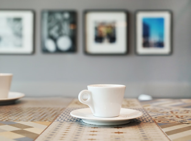 Café na mesa