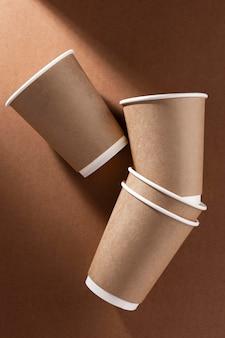 Café para levar xícaras de papelão