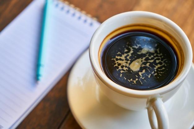 Café preto café gourmet gravação bebida quente