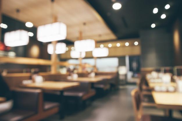 Café restaurante borrado abstrato com fundo desfocado de luzes bokeh