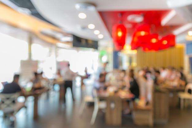 Café restaurante desfocar o fundo