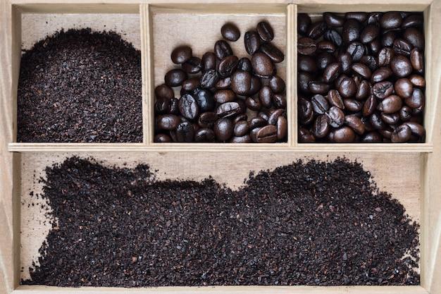 Café robusta vietnamita em caixa de madeira