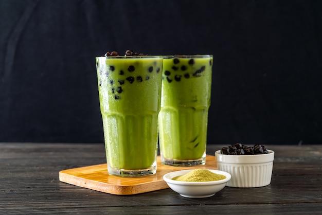 Café verde com leite com bolha