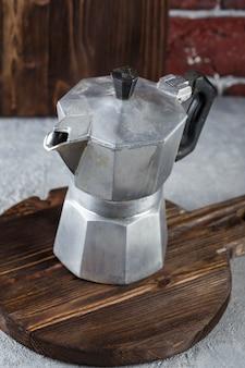Cafeteira tradicional. pote moka
