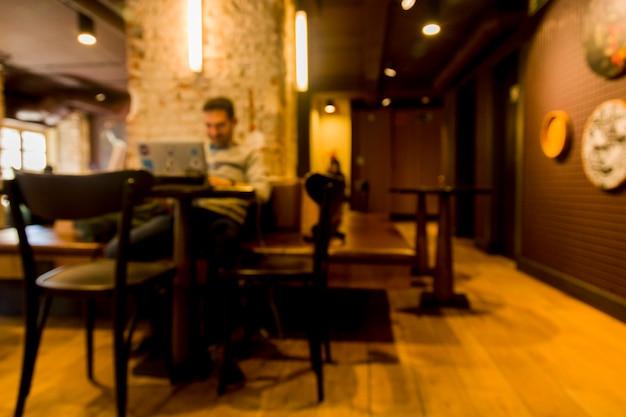 Cafeteria com efeito borrado