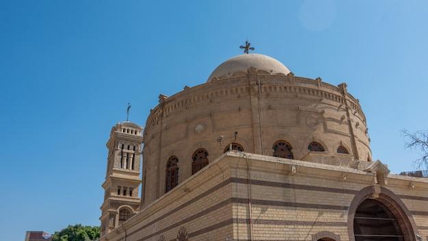 Cairo, egito - abril 13,2021: igreja de são jorge no cairo antigo. igreja de são jorge no cairo copta