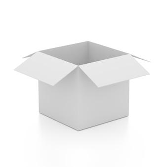 Caixa aberta em branco