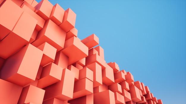Caixa aleatória vermelha diagonal