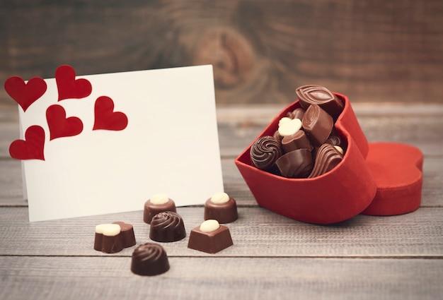 Caixa com chocolates é para você