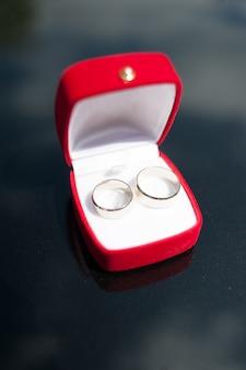 Caixa de anéis de casamento