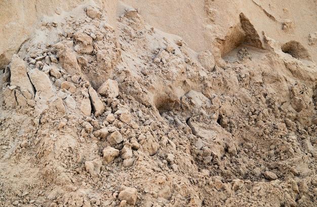 Caixa de areia pilha de areia de perto