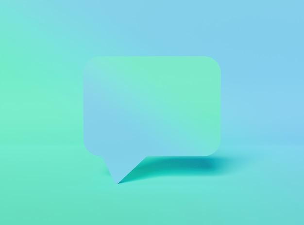 Caixa de comentários com gradiente de cor